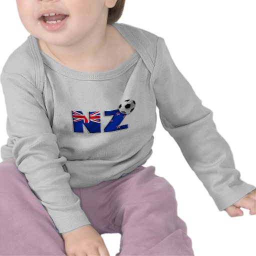 NZ soccer ball gifts flag of New Zealand style T Shirts