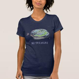 NZ TREASURE paua black abalone T-Shirt