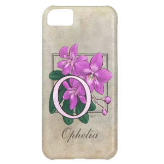 O for Orchid Floral Monogram iPhone 5C Case