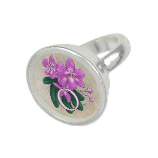 O for Orchid Flower Alphabet Monogram