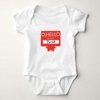 O hello my name is Jacob Baby Bodysuit