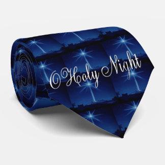 O Holy Night Blue Men's Tie