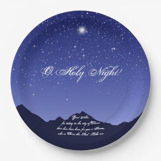 O Holy Night Christmas Paper Plates