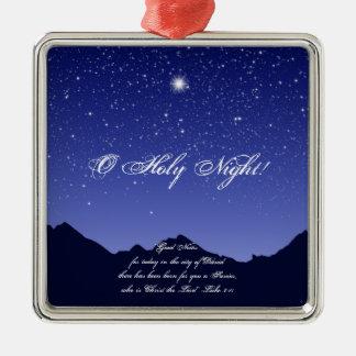 O Holy Night Square Christmas Ornament