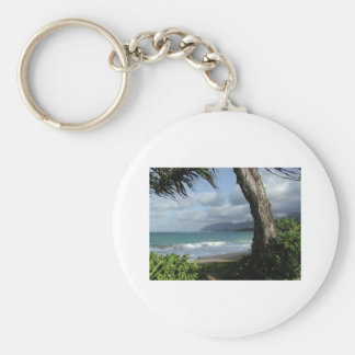 Oahu Beach Key Ring