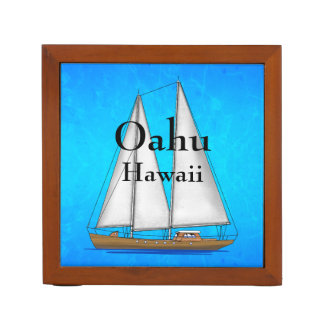 Oahu Hawaii Desk Organiser