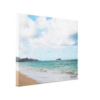 Oahu Hawaii Ocean Waves & Beach Canvas Print