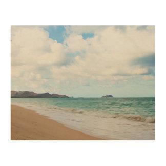 Oahu Hawaii Ocean Waves & Beach Wood Canvases