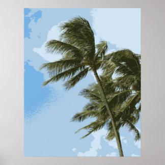 Oahu Palms Poster