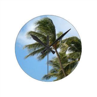Oahu Palms Wallclock