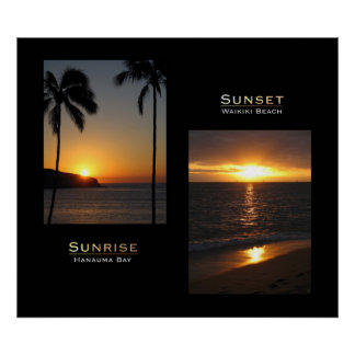 Oahu - Sunrise - Sunset Poster