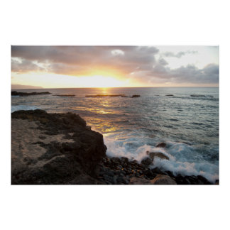 Oahu Sunset Poster