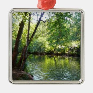 Oak Creek I in Sedona Arizona Nature Photography Silver-Colored Square Decoration