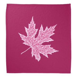 Oak leaf - burgundy wine and pink bandana
