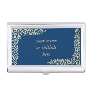 Oak leaf floral bordure business card holder