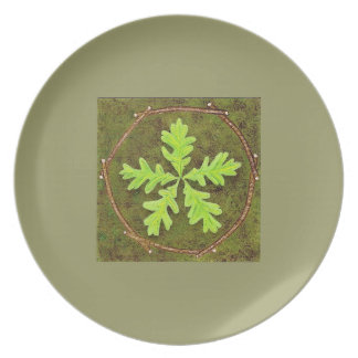 Oak Leaf Pentagram Plate
