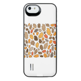 oak leaves autumn woodland Iphone case