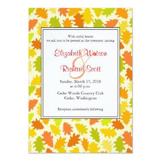 Oak tree Autumn wedding invitation