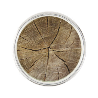 Oak Tree Cross Section Lapel Pin