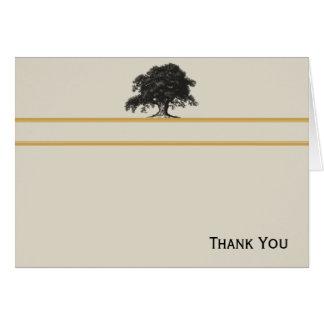 Oak Tree Plantation in Gold Card