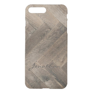 Oak Wood Zigzag Pattern Monogram iPhone 8 Plus/7 Plus Case