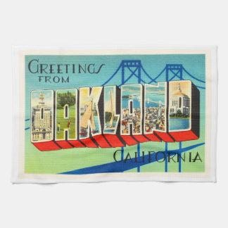 Oakland California CA Old Vintage Travel Souvenir Tea Towel
