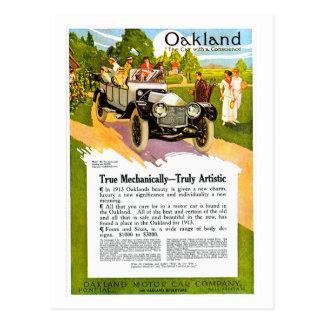 Oakland Motor Car Vintage 1913 Auto Ad Post Cards