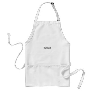 Oakland Old English Font Standard Apron