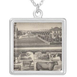 Oakland Stock Farm, Kansas Silver Plated Necklace