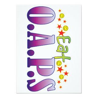 OAPs Eat 14 Cm X 19 Cm Invitation Card