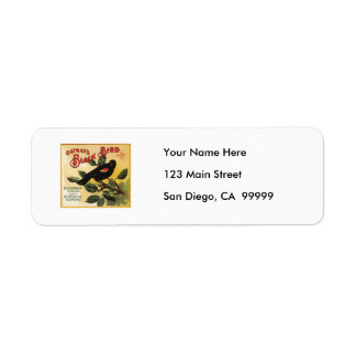 Oatman's Black Bird Brand Fruit Crate Label Return Address Label