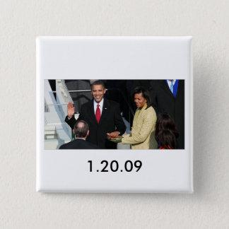 Obama 2012 15 cm square badge