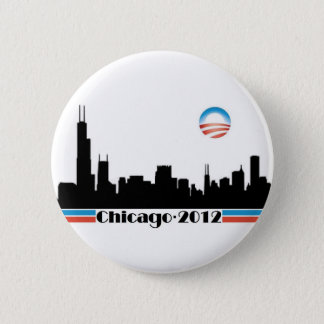 Obama 2012 - Chicago Skyline 6 Cm Round Badge