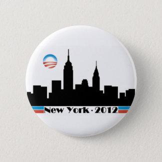 Obama 2012 New York City Skyline 6 Cm Round Badge