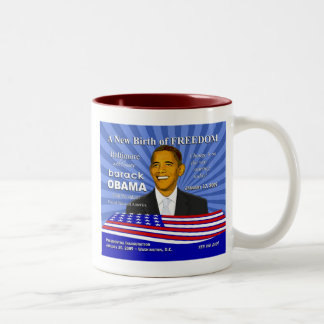 Obama Baltimore Inauguration Gifts and Souvenirs Two-Tone Coffee Mug