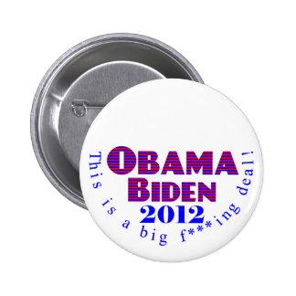 Obama Biden 2012 BFD Button