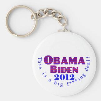 Obama Biden 2012 BFD Keychain