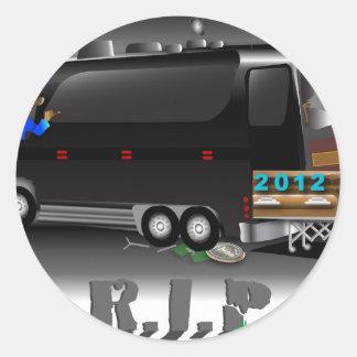 Obama Bus RIP Classic Round Sticker