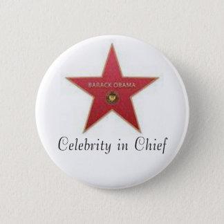 Obama Celebrity in Chief 6 Cm Round Badge