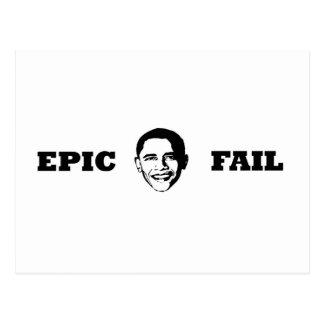 Obama- Epic Fail Postcard