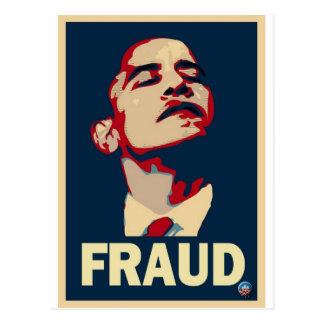 Obama Fraud Postcard