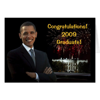 Obama Graduation Congratulations Card