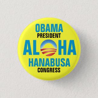 OBAMA/HANABUSA 2012 3 CM ROUND BADGE