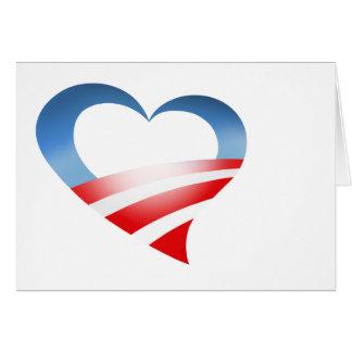 Obama Heart Logo Card