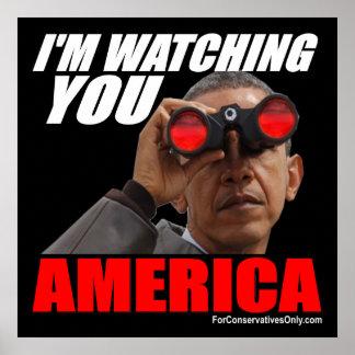 Obama - I'm Watching You America Poster