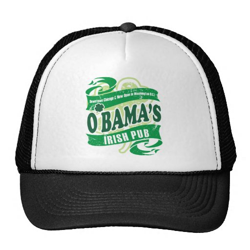 obama irish pub mesh hats