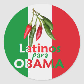 Obama LATINOS Classic Round Sticker