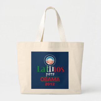 Obama LATINOS Large Tote Bag