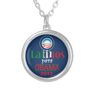 Obama LATINOS Silver Plated Necklace