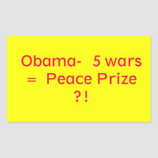 Obama Peace Prize Rectangular Stickers